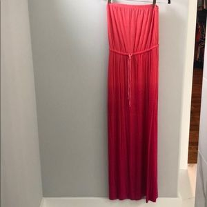 Pink Ombré Maxi Dress